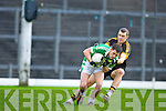 Mike Moloney Dr Crokes gets to grip with Legion's David O'Sullivan during the O'Donoghue cup final in Fitzgerald Stadium on Sunday