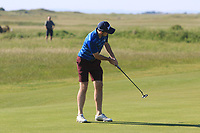 Alan Lowry (Esker Hills) putts for a birdie on the 1st green during Round 2 of the East of Ireland Amateur Open Championship 2018 at Co. Louth Golf Club, Baltray, Co. Louth on Sunday 3rd June 2018.<br /> Picture:  Thos Caffrey / Golffile<br /> <br /> All photo usage must carry mandatory copyright credit (&copy; Golffile | Thos Caffrey)