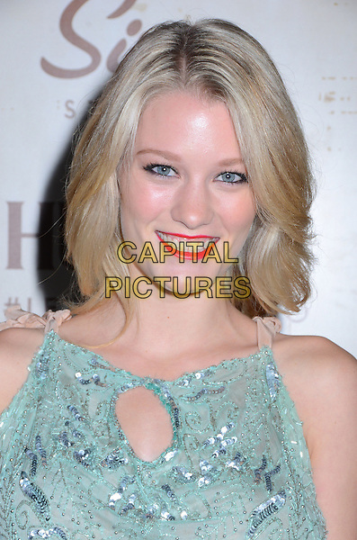 Ashley Hinshaw<br /> Celebrity arrivals at The Art of Elysium's fifth annual GENISIS at Siren Studios Cube in Hollywood, CA, USA, 20th September 2013.<br /> portrait headshot smiling green lace top silver sequined sequin <br /> CAP/ADM/BT<br /> &copy;Birdie Thompson/AdMedia/Capital Pictures