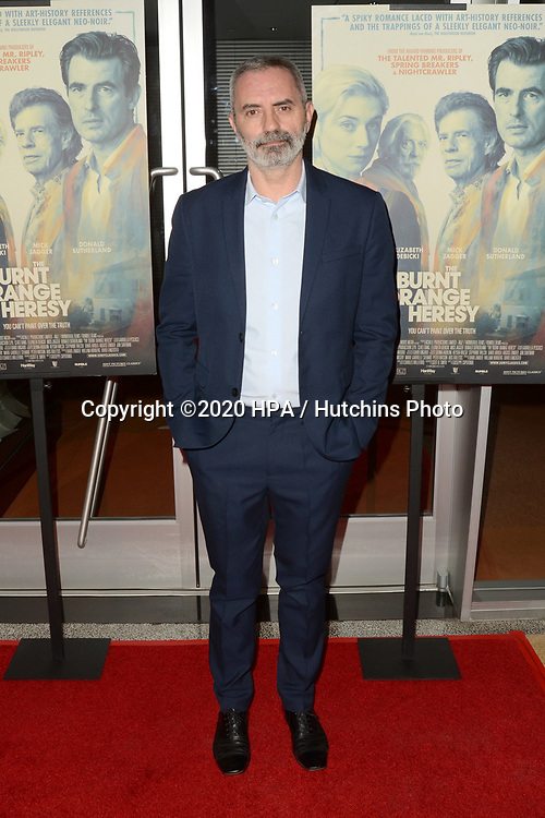 "LOS ANGELES - MAR 2:  Giuseppe Capotondi at the ""The Burnt Orange Heresy"" Special Screening at the Linwood Dunn Theater on March 2, 2020 in Los Angeles, CA"