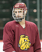 Scott Kishel (Duluth - 6) - The University of Minnesota-Duluth Bulldogs practiced on Friday morning, April 8, 2011, during the 2011 Frozen Four at the Xcel Energy Center in St. Paul, Minnesota.