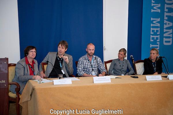 Utrecht, september 28, 2012.NFF Utrecht, .Holland Film Meeting.Dutch/German Production meeting.vlnr Katrin Burchard,Daniel Saltzwedel,Isabel Krolla,Nicola Jones..Photo: Lucia Guglielmetti