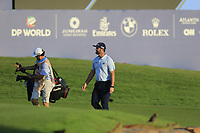Jon Rahm (ESP) on the 18th during the 3rd round of the DP World Tour Championship, Jumeirah Golf Estates, Dubai, United Arab Emirates. 23/11/2019<br /> Picture: Golffile | Fran Caffrey<br /> <br /> <br /> All photo usage must carry mandatory copyright credit (© Golffile | Fran Caffrey)