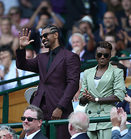 Boxers David Haye and Nicola Adams in the Royal box on Centre Court <br /> <br /> Photographer Rob Newell/CameraSport<br /> <br /> Wimbledon Lawn Tennis Championships - Day 6 - Saturday 7th July 2018 -  All England Lawn Tennis and Croquet Club - Wimbledon - London - England<br /> <br /> World Copyright &not;&copy; 2017 CameraSport. All rights reserved. 43 Linden Ave. Countesthorpe. Leicester. England. LE8 5PG - Tel: +44 (0) 116 277 4147 - admin@camerasport.com - www.camerasport.com