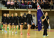 7th September 2017, Te Rauparaha Arena, Wellington, New Zealand; Taini Jamison Netball Trophy; New Zealand versus England;  Silver Ferns captain Katrina Grant leads her team onto the court