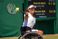 London, England, 11 July, 2019, Tennis,  Wimbledon, Ladies Wheelchair single: Marjolein Buis (NED)<br /> Photo: Henk Koster/tennisimages.com