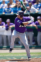 TCU 1B Matt Curry in Game 13 of the NCAA Division One Men's College World Series on June 26th, 2010 at Johnny Rosenblatt Stadium in Omaha, Nebraska.  (Photo by Andrew Woolley / Four Seam Images)