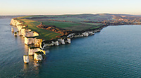 BNPS.co.uk (01202 558833)<br /> Pic: MikeTutt/BNPS<br /> <br /> Drone photographer Mike Tutt took these stunning aerial view's of 'Old Harry' on the Jurassic coast near Poole yesterday as the skies finally cleared.
