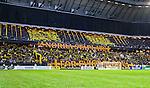 Solna 2014-08-13 Fotboll Allsvenskan AIK - Djurg&aring;rdens IF :  <br /> AIK:s supportrar med ett tifo inf&ouml;r matchen mellan AIK och Djurg&aring;rden<br /> (Foto: Kenta J&ouml;nsson) Nyckelord:  AIK Gnaget Friends Arena Allsvenskan Derby Djurg&aring;rden DIF supporter fans publik supporters tifo