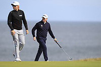 Philip Eriksson (SWE) and Richard McEvoy (ENG) during Round 3 of the Alfred Dunhill Links Championship 2019 at Kingbarns Golf CLub, Fife, Scotland. 28/09/2019.<br /> Picture Thos Caffrey / Golffile.ie<br /> <br /> All photo usage must carry mandatory copyright credit (© Golffile | Thos Caffrey)