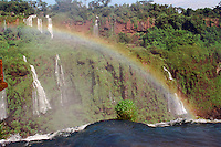 Rainbow over Iguazu Falls, Brazil