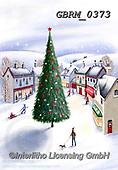 Roger, CHRISTMAS LANDSCAPES, WEIHNACHTEN WINTERLANDSCHAFTEN, NAVIDAD PAISAJES DE INVIERNO, paintings+++++,GBRM0373,#xl#