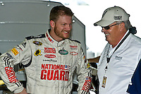 14-16 November 2008, Homestead, Florida USA.Team owner Rick Hendrick and driver Dale Earnhardt,Jr. talk in the garage during practice..©F.Peirce Williams 2008.F. Peirce Williams.photography.ref: Capture via Nikon .NEF (RAW) & .JPG