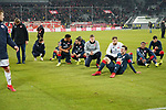 30.11.2018, Merkur Spielarena, Duesseldorf , GER, 1. FBL,  Fortuna Duesseldorf vs. 1.FSV Mainz 05,<br />  <br /> DFL regulations prohibit any use of photographs as image sequences and/or quasi-video<br /> <br /> im Bild / picture shows: <br /> die Mainzer freuen sich nach Ende des Spiels und sitzen bei den Fans.. <br /> Foto © nordphoto / Meuter