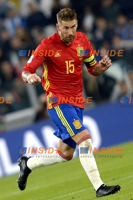 Sergio Ramos Spain,<br /> Torino 06-10-2016 Juventus Stadium <br /> World Cup Qualifiers Italy - Spain / Italia - Spagna. Foto Filippo Alfero / Insidefoto