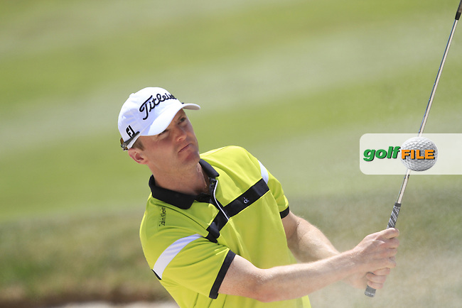 Michael Hoey (NIR) on the 2nd fairway during Round 3 of the Open de Espana  in Club de Golf el Prat, Barcelona on Saturday 16th May 2015.<br /> Picture:  Thos Caffrey / www.golffile.ie