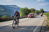 Richard Carapaz (ECU/Ineos Grenadiers) on his way to a 2nd place finish<br /> <br /> Stage 16 from La Tour-du-Pin to Villard-de-Lans (164km)<br /> <br /> 107th Tour de France 2020 (2.UWT)<br /> (the 'postponed edition' held in september)<br /> <br /> ©kramon