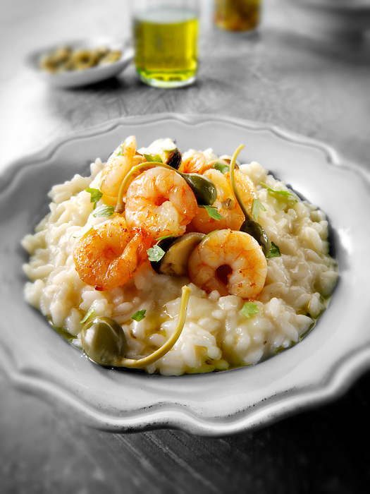 Classic risotto with prawns