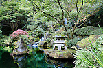 Heavenly Fall, Portland Oregon Japanese Garden, provides a quiet place of contemplation.  The Japanese Garden in Portland is a 5.5 acre respit.  Said to be one of the most authentic Japanese Garden's outside of Japan, the rolling terrain and water features symbolize both peace and strength.