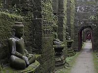 Koe Thaung 90000 images of Buddha Temple, Mrauk U, Rakhine State Myanmar