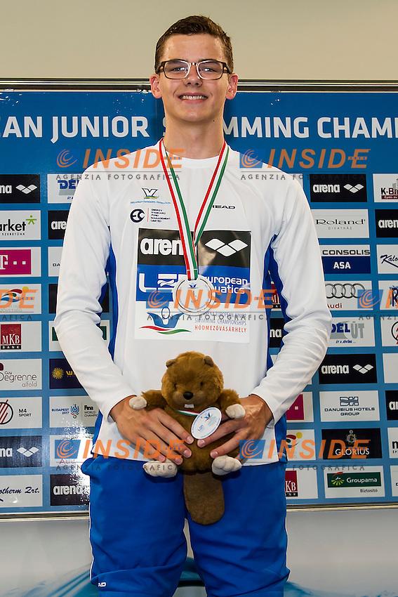Khloptssov Andrii UKR<br /> 50 Butterfly Men Final Gold Medal<br /> LEN 43rd Arena European Junior Swimming Championships<br /> Hodmezovasarhely, Hungary <br /> Day01 06-07-2016<br /> Photo Andrea Masini/Deepbluemedia/Insidefoto