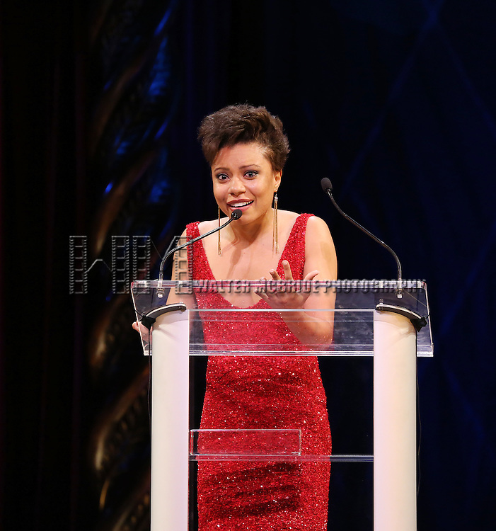 Shalita Grant during the 69th Annual Theatre World Awards Presentation at the Music Box Theatre in New York City on June 03, 2013.