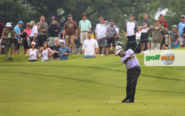 11 JUL 15 Fijian Vijay Singh during Saturday's Third Round of the John Deere Classic at The TPC Deere Run in Silvis, Ill. (photo credit : kenneth e. dennis/kendennisphoto.com)