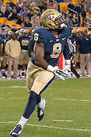 Pitt linebacker Todd Thomas (8). The Pitt Panthers defeated the Virginia Tech Hokies 21-16 at Heinz Field, Pittsburgh Pennsylvania on October 16, 2014
