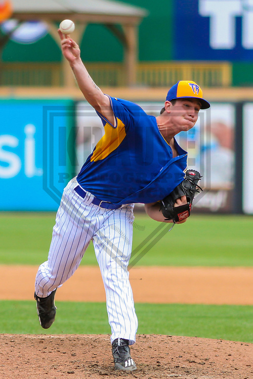 Wisconsin Timber Rattlers pitcher Josh Pennington (26)  during a Midwest League game against the Cedar Rapids Kernels on August 6, 2017 at Fox Cities Stadium in Appleton, Wisconsin.  Cedar Rapids defeated Wisconsin 4-0. (Brad Krause/Krause Sports Photography)