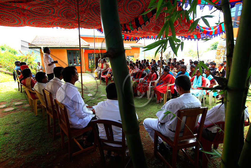 A meeting in the Keystone Foundation in Kotagiri with some teachers and the students from the tribes.