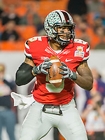January 3, 2014 - Miami Gardens, Florida, U.S: Ohio State Buckeyes quarterback Braxton Miller (5) during second half action of the Discover Orange Bowl between the Clemson Tigers and the Ohio State Buckeyes. Clemson defeated Ohio State 40-35 at Sun Life Stadium in Miami Gardens, Fl