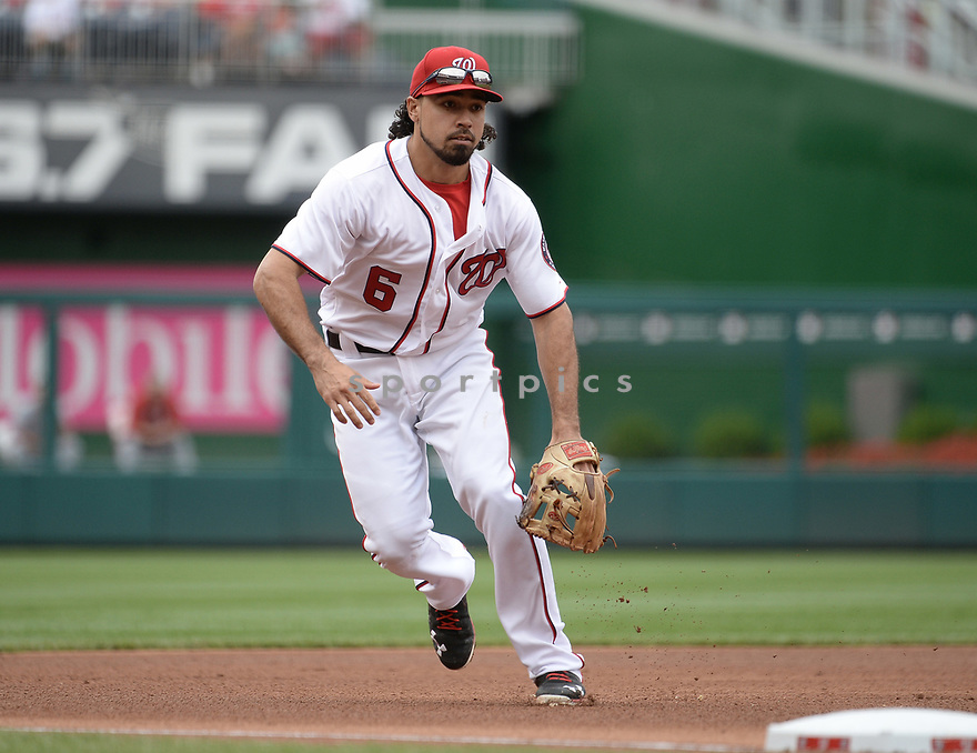 Washington Nationals Anthony Rendon (6) during a game against the Cincinnati Reds on July 3, 2016 at Nationals Park in Washington DC. The Nationals beat the Reds 12-1.