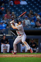 Reading Fightin Phils Luke Williams (11) at bat during an Eastern League game against the Akron RubberDucks on June 4, 2019 at Canal Park in Akron, Ohio.  Akron defeated Reading 8-5.  (Mike Janes/Four Seam Images)