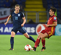 20170723 - BREDA , NETHERLANDS : English Ellen White (L) and Spanish Marta Corredera (R) pictured during the female soccer game between England and Spain  , the second game in group D at the Women's Euro 2017 , European Championship in The Netherlands 2017 , Sunday 23 th June 2017 at Stadion Rat Verlegh in Breda , The Netherlands PHOTO SPORTPIX.BE | DIRK VUYLSTEKE