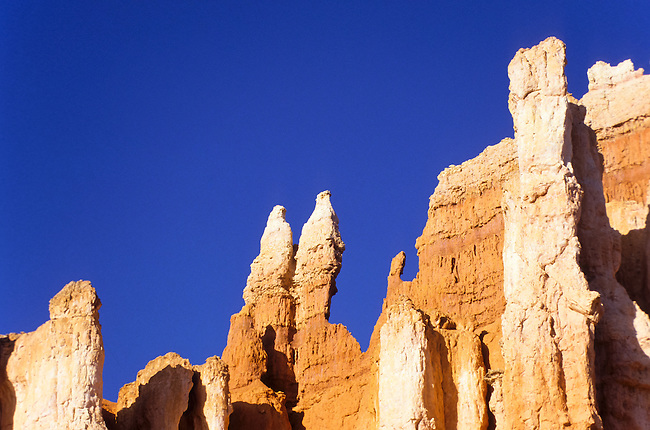 Eroded orange and pink formation in Bryce Canyon, Utah, USA