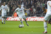Pictured: Leon Britton of Swansea City in action <br /> <br /> Re: Coca Cola Championship, Swansea City Football Club v  Wolverhampton Wanderers at the Liberty Stadium, Swansea, south Wales 2008.