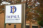 A new name and signage adorn DePaul College Prep high school at 3633 N California Ave, Chicago, IL as seen on September 30, 2014. (DePaul University/Jeff Carrion)