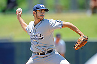 22 May 2010:  FIU's Aaron Arboleya (29) pitches in the fourth inning as the Florida Atlantic University Owls defeated the FIU Golden Panthers, 14-10, at FAU Stadium in Boca Raton, Florida.