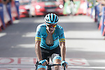 Nikita Stalnov (KAZ) Astana Pro Team from the breakaway crosses the finish line in 2nd place at the end of Stage 4 of the La Vuelta 2018, running 162km from Velez-Malaga to Alfacar, Sierra de la Alfaguara, Andalucia, Spain. 28th August 2018.<br /> Picture: Colin Flockton   Cyclefile<br /> <br /> <br /> All photos usage must carry mandatory copyright credit (&copy; Cyclefile   Colin Flockton)