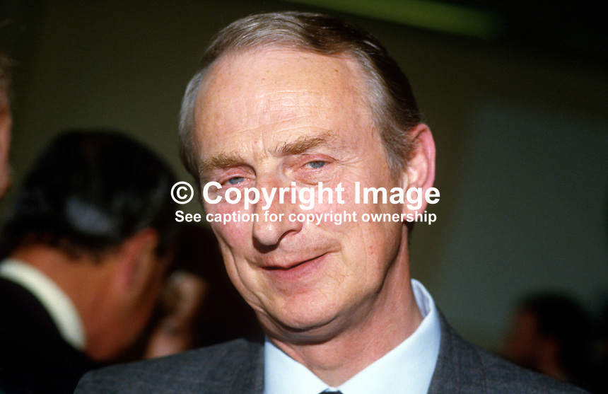 John Parkes, permanent secretary, Dept of Education, N Ireland, 19850615JP1..Copyright Image from Victor Patterson, 54 Dorchester Park, Belfast, UK, BT9 6RJ..Tel: +44 28 9066 1296.Mob: +44 7802 353836.Voicemail +44 20 8816 7153.Skype: victorpattersonbelfast.Email: victorpatterson@me.com.Email: victorpatterson@ireland.com (back-up)..IMPORTANT: If you wish to use this image or any other of my images please go to www.victorpatterson.com and click on the Terms & Conditions. Then contact me by email or phone with the reference number(s) of the image(s) concerned.