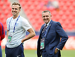 England's Rob Holding and Aidy Boothroyd during the UEFA Under 21 Semi Final at the Stadion Miejski Tychy in Tychy. Picture date 27th June 2017. Picture credit should read: David Klein/Sportimage