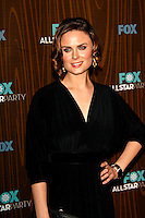 January 11, 2010:  Emily Deschanel arrives at the Fox All Star Party at the Villa Sorisso in Pasadena, California.Photo by Nina Prommer/Milestone Photo