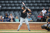 Jonathan Pryor (11) of the Wake Forest Demon Deacons at bat against the West Virginia Mountaineers in Game Six of the Winston-Salem Regional in the 2017 College World Series at David F. Couch Ballpark on June 4, 2017 in Winston-Salem, North Carolina.  The Demon Deacons defeated the Mountaineers 12-8.  (Brian Westerholt/Four Seam Images)