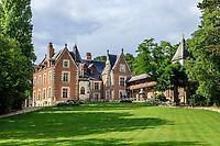 France, Indre-et-Loire (37), Amboise, Jardin et Château du Clos Lucé