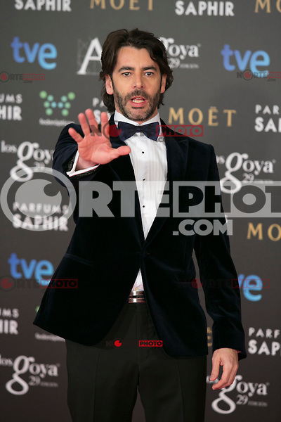 Eduardo Noriega attend the 2015 Goya Awards at Auditorium Hotel, Madrid,  Spain. February 07, 2015.(ALTERPHOTOS/)Carlos Dafonte) /NORTEphoto.com