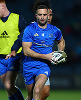 28th February 2020; RDS Arena, Dublin, Leinster, Ireland; Guinness Pro 14 Rugby, Leinster versus Glasgow; Dave Kearney (Leinster) warming up before the game