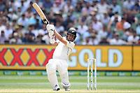 28th December 2019; Melbourne Cricket Ground, Melbourne, Victoria, Australia; International Test Cricket, Australia versus New Zealand, Test 2, Day 3; Neil Wagner of New Zealand hits the ball