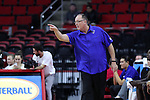 03 November 2016: Lynn head coach Jeff Price. The North Carolina State University Wolfpack hosted the Lynn University Fighting Knights at PNC Arena in Raleigh, North Carolina in a 2016-17 NCAA Division I Men's Basketball exhibition game. NC State won the game 100-66.