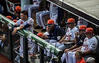 Dogout de venezuela<br /> .<br /> Partido de beisbol de la Serie del Caribe con el encuentro entre Caribes de Anzo&aacute;tegui de Venezuela  contra los Criollos de Caguas de Puerto Rico en estadio Panamericano en Guadalajara, M&eacute;xico,  s&aacute;bado 5 feb 2018. <br /> (Foto: Luis Gutierrez)<br /> <br /> Baseball game of the Caribbean Series with the match between Caribes de Anzo&aacute;tegui of Venezuela against the Criollos de Caguas of Puerto Rico, at the Pan American Stadium in Guadalajara, Mexico, Saturday, February 5, 2018.<br /> (Photo: Luis Gutierrez)