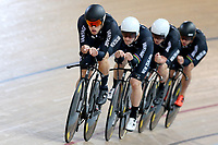 Hugo Jones, Dylan Kennett, Tom Sexton and Pieter Bulling at the Age Group Track National Championships, Avantidrome, Home of Cycling, Cambridge, New Zealand, Friday, March 17, 2017. Mandatory Credit: © Dianne Manson/CyclingNZ  **NO ARCHIVING**